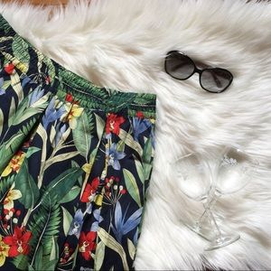 Philosophy Tropical Floral Midi Skirt